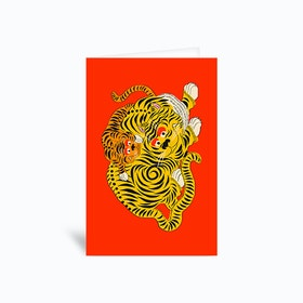 Mama 2 Red Greetings Card