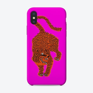 Tiger Pink Fluo Pink Phone Case