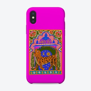 Tiger Temple Fluo Pink Phone Case