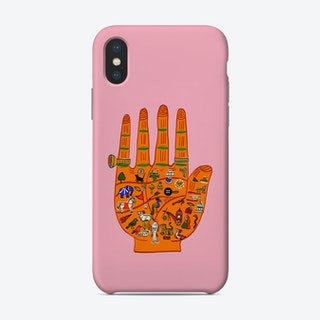 Indian Palmistry Pink Phone Case