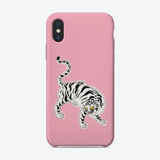 White Tiger Pink Phone Case