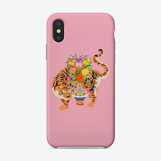 Good Luck Tiger Pink Phone Case