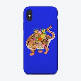 Good Luck Tiger Blue Phone Case