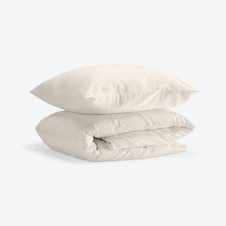 Double Sateen Duvet Set (Duvet Cover + 2 Pillow Cases) - Baltic Sand