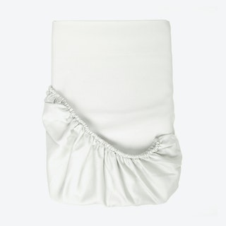 Sateen Fitted Sheet - White