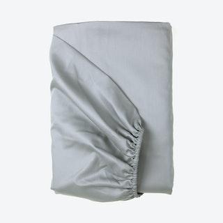 Sateen Fitted Sheet - Light Grey