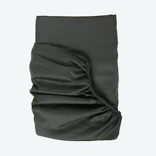 Sateen Fitted Sheet - Dark Grey