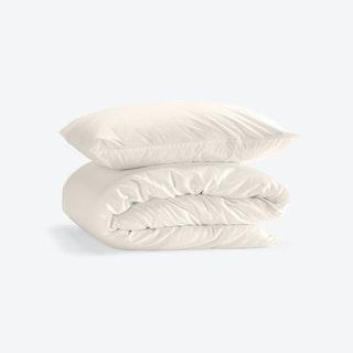 Single Percale Duvet Set (Duvet Cover + Pillow Case) - Baltic Sand