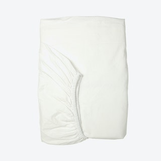 Percale Fitted Sheet - White