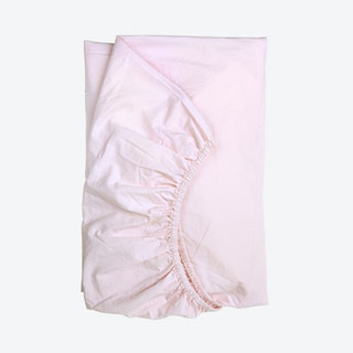 Percale Fitted Sheet - Light Pink