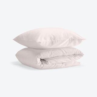 Double Sateen Duvet Set (Duvet Cover + 2 Pillow Cases) - Light Pink