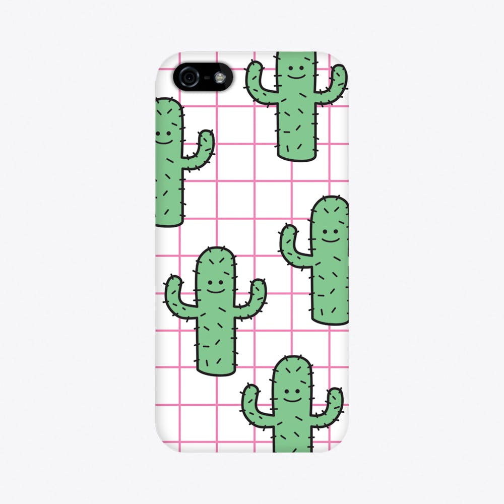 Cactus Grid iPhone Case