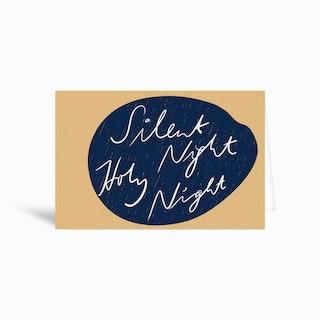 Silent Night Holy Night 2 Greetings Card
