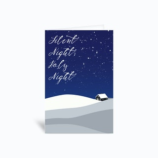 Silent Night Holy Night Greetings Card