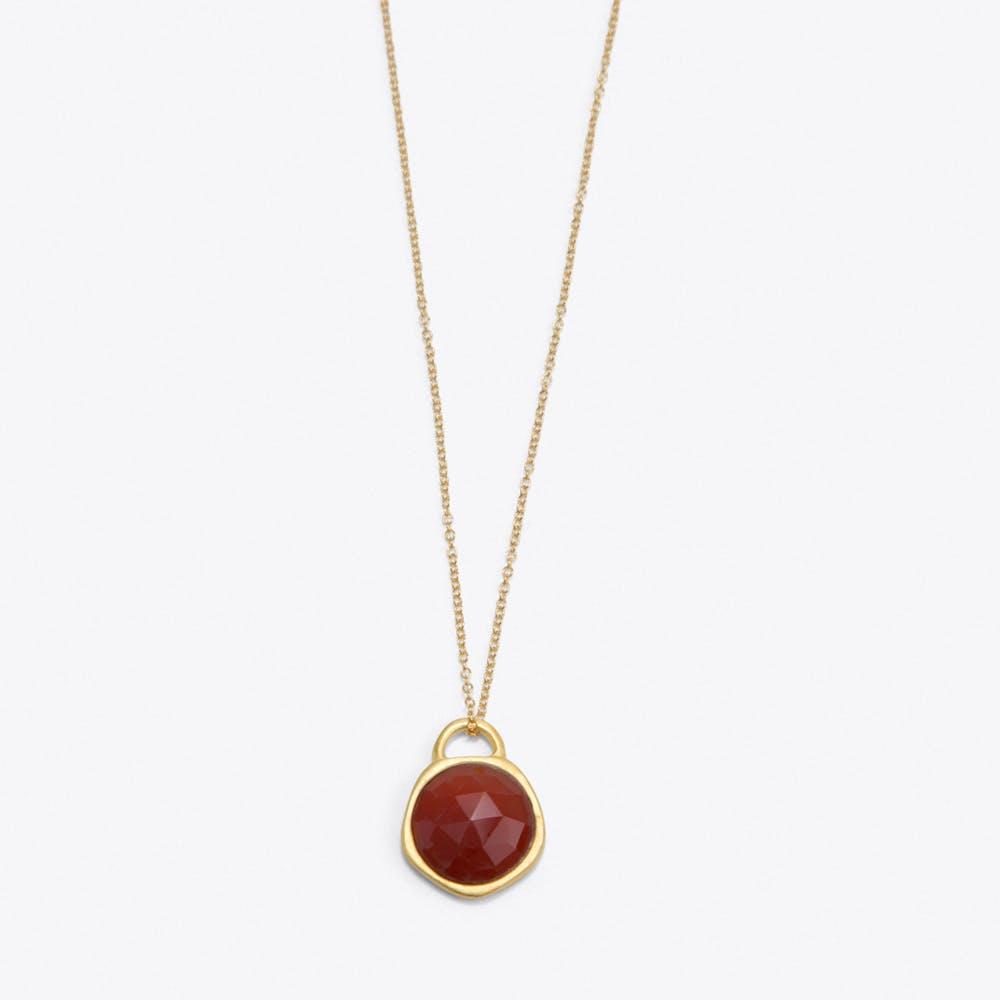 Red Onyx Birthstone Necklace