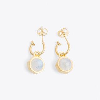 Labradorite & Moonstone Double Sided Earrings