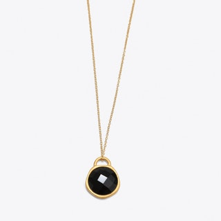 Black Onyx Birthstone Necklace