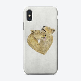 Lioness Lovers Phone Case