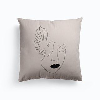 Lady Bird Canvas Cushion