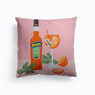 Aperol Spritz Canvas Cushion