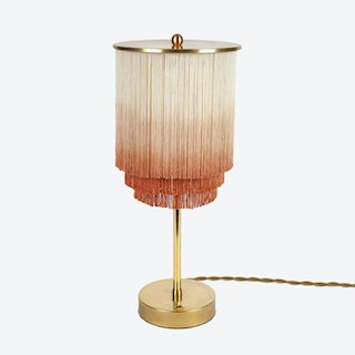 Fringe and Brass Table Lamp Small