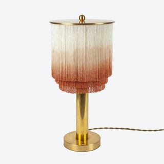 Fringe and Brass Table Lamp - Large
