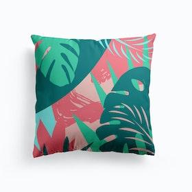 Monstera Abstract Cushion