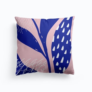 Blue Leaves Cushion