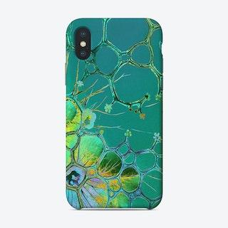 Bubbles beyond green Phone Case
