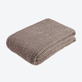 Pet Knitted Throw - Mauve