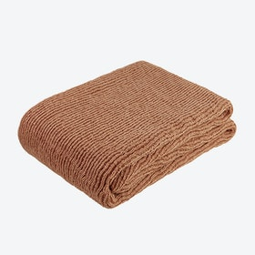 Pet Knitted Throw - Terracotta