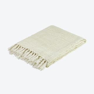 Throw - Linen - Offwhite - Fringes