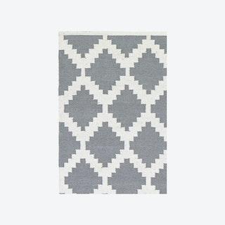 Cotton Rug - Siesta - Grey/White