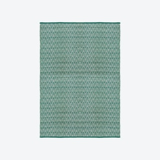 Cotton Rug - Vienna - Green/Natural
