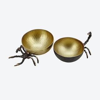 Bowl Set - Scorpio - Reclaimed Brass