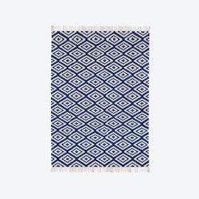 Cotton Rug - Apache - Dark Blue/White