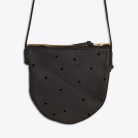 Oskar Shoulder Bag in Anthracite Black
