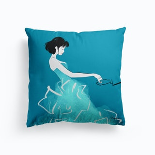 Artist Self Portrait  Cushion