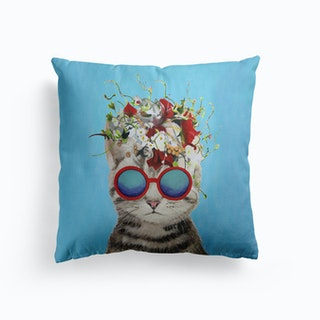 Flower Power Cat Cushion