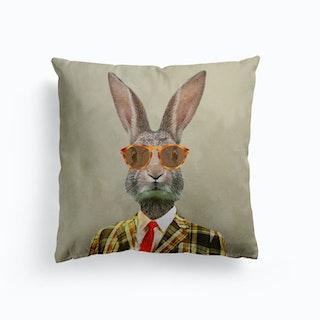 Retro Rabbit Cushion