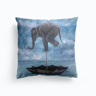 Elephant In Balance Cushion