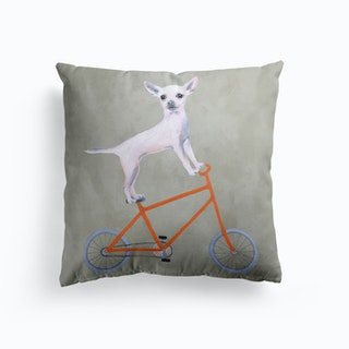 Chihuahua On Bicycle Cushion