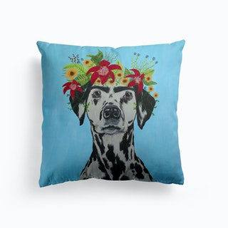Frida Kahlo Dalmatian Cushion