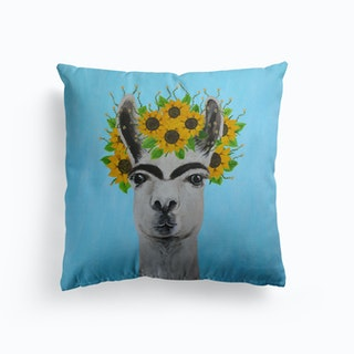Frida Kahlo Llama Cushion