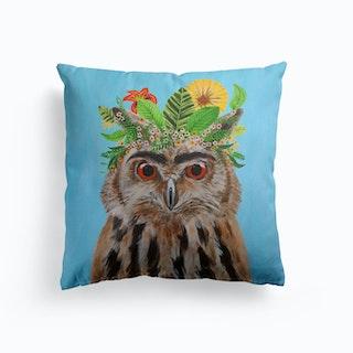 Frida Kahlo Owl Cushion