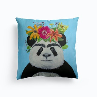 Frida Kahlo Panda Cushion