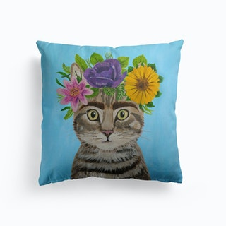 Frida Kahlo Cat Cushion