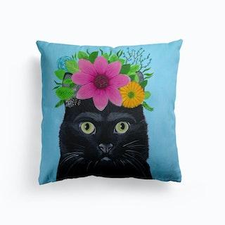 Frida Kahlo Black Cat Cushion