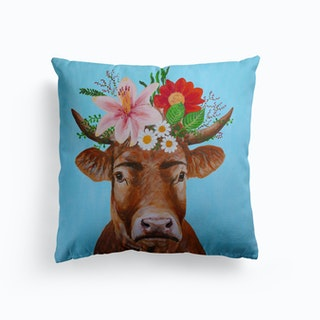 Frida Kahlo Cow Cushion