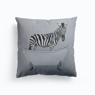 Zebra In Bathtub Cushion